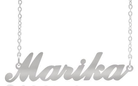 Fashion Icon Ocelový přívěsek jméno Marika