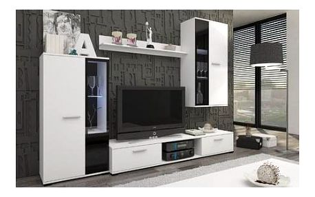 Obývací stěna OSKAR 5 bílá Bez LED osvětlení