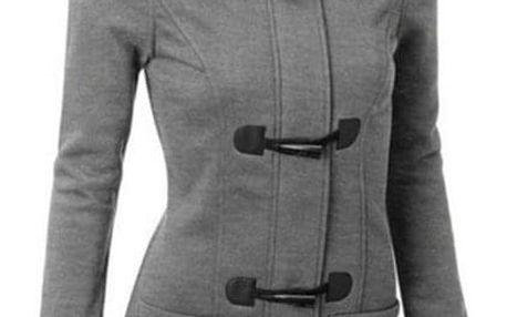 Dámský zimní kabát s kapucí - Hnědá-velikost č. 2 - dodání do 2 dnů