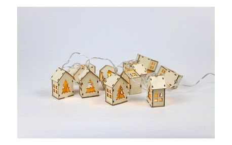 Marimex | Nature řetěz s domečky 10 LED - přírodní | 18000265