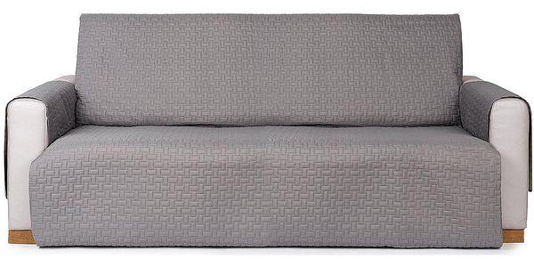 4Home Přehoz na sedací soupravu Doubleface šedá/světle šedá, 180 x 220 cm