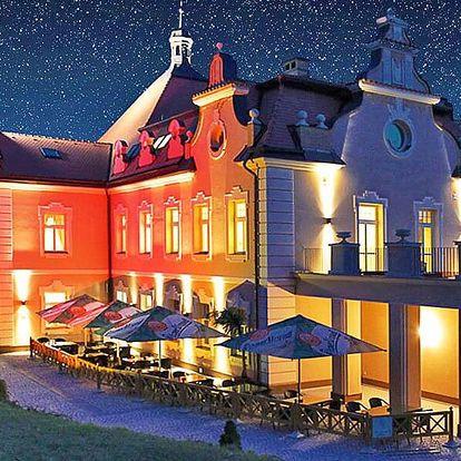 Střední Čechy v zámeckém hotelu se snídaní + dle varianty wellness rituál a láhev vína