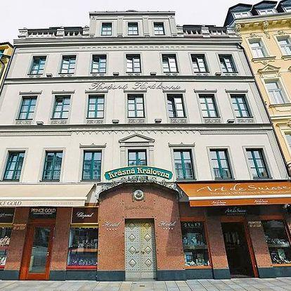 Karlovy Vary v hotelu se vstupem do lázní a snídaní/polopenzí + varianty s romantickou večeří