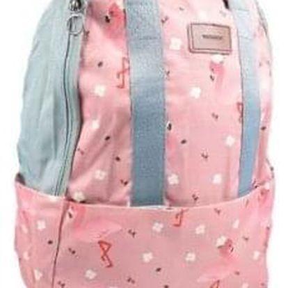Batoh růžový s plameňáky