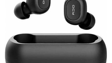 Bezdrátová sluchátka QCY - T1C s dobíjecím boxem - černá