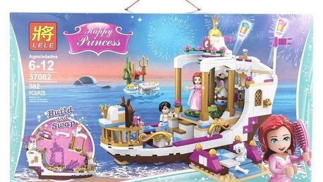 LELE Princess Stavebnice Arielin královský člun na oslavy -