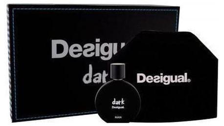 Desigual Dark dárková kazeta pro muže toaletní voda 100 ml + kosmetická taška