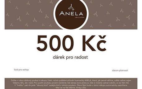 Dárkový poukaz česká přírodní kosmetika Anela 500 Kč