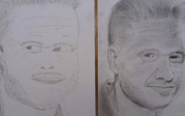 """Kresba portrétu """"pravou hemisférou""""   vícero lokalit   celoročně   cca 12 hodin výuky3"""