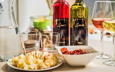 Posezení u vína: víno, sýry i arašídy či olivy