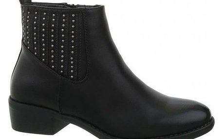 Dámské černé kotníkové boty Niew 6796