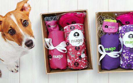 Vánoční balíčky Nugo pro psy: taška, miska, pamlsky