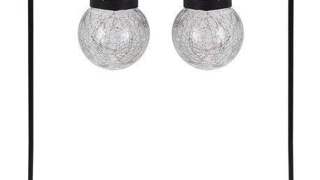 ProGarden Solární stylové zahradní lampy v černé barvě, 12x76 cm