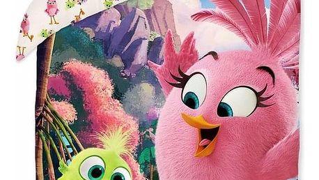 Halantex Dětské bavlněné povlečení Angry Birds movie 1155, 140 x 200 cm, 70 x 90 cm