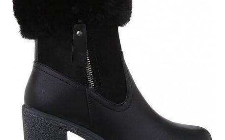 Dámské černé kotníkové boty Nola 140