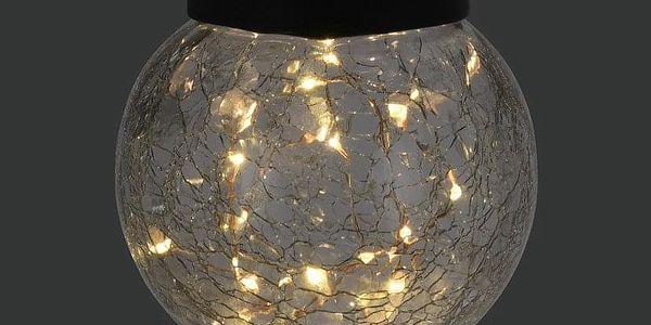 ProGarden Solární stylové zahradní lampy v černé barvě, 12x76 cm2
