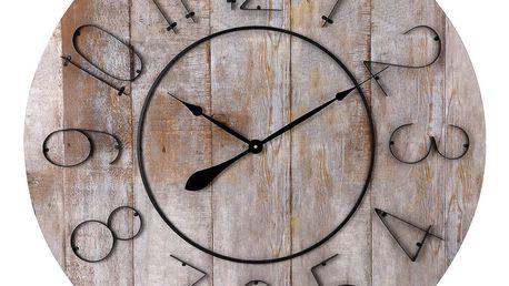 Emako Dřevěné nástěnné hodiny, ručičkové, Ø 88 cm