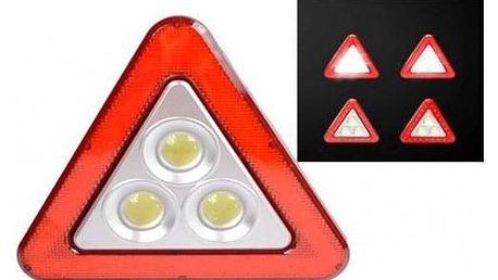 Multifunkční výstražný solární LED trojúhelník