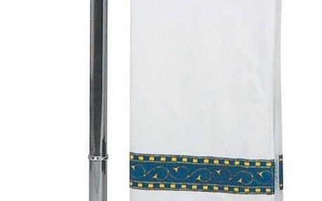 Koupelnový stojanový věšák na ručníky, 3-ramenný, chromovaná ocel,WENKO