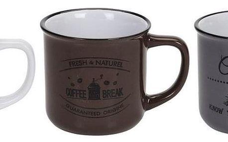 Sada kameninových hrnků Coffee 330 ml, 3 ks