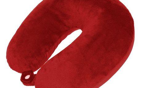 Emako, Cestovní polštář půlměsíc, červený, 30x30x11cm