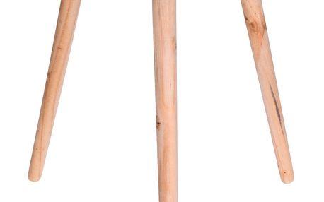 Home Styling Collection Dřevěný kávový stolek v pastelově zelené barvě, 45 cm