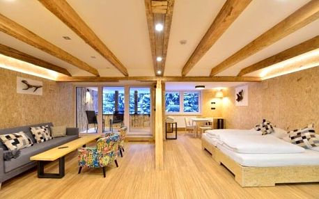 Jizerské hory: moderní lesní Resort Montanie u přehrady Souš s polopenzí a neomezeným wellness