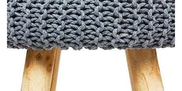 Atmosphera Créateur d'intérieur Čalouněný taburet vretro stylu na dřevěných nožkách, dřevěná stolička, čalouněná stolička, taburet do předsíně2