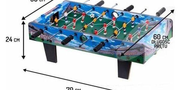 Ecotoys Stolní fotbal 70 x 36 cm, modrá5