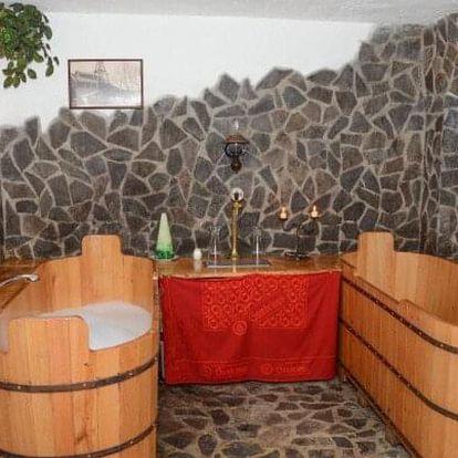 CHKO Žďárské vrchy v Penzionu U Čtyřlístku s pivní koupelí a privátním wellness