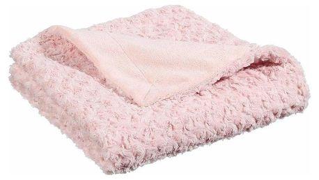 Emako Deka světle růžové barvy s rozměry 120 x 160 cm, vyrobená z polyesteru, teplá a příjemná na dotek