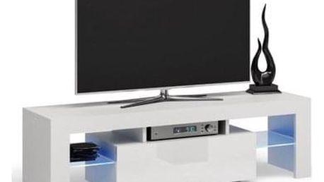 Stolek pod televizi DEKO 140 cm bílý