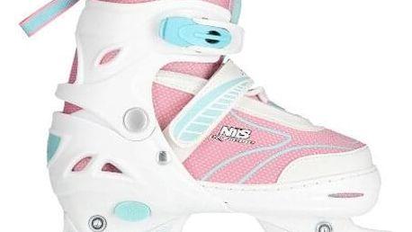 Zimné korčule Nils Extreme 2v1 NH11812 A růžové Veľkosť: XS (27-30)