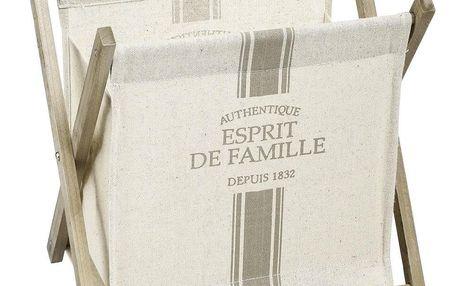 Atmosphera Créateur d'intérieur Dřevěný zásobník natiskoviny, zásobník nanoviny, koš na noviny, stojan načasopisy, zásobník načasopisy, bytový doplněk
