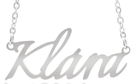 Fashion Icon Ocelový přívěsek jméno Klára