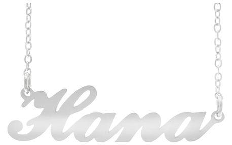 Fashion Icon Ocelový přívěsek jméno Hana