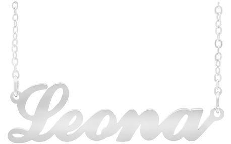 Fashion Icon Ocelový přívěsek jméno Leona