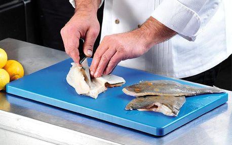 Kesper Řezací deska vyhovující HACCP, plastový sloužící stojan v modré barvě