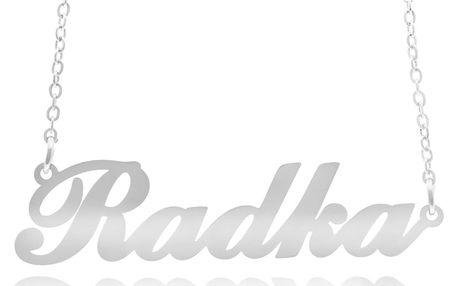 Fashion Icon Ocelový přívěsek jméno Radka