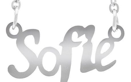Fashion Icon Ocelový přívěsek jméno Sofie