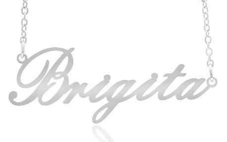 Fashion Icon Ocelový přívěsek jméno Brigita