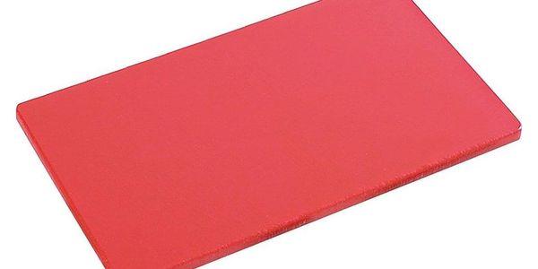 Kesper Řezací deska vyhovující HACCP, plastový sloužící stojan v červené barvě2