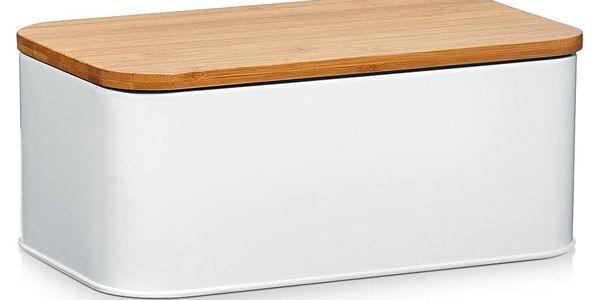 Kovový kontejner na chleba, 2v1 bambusové prkénko, 2v1, 31x18x13 cm, ZELLER2