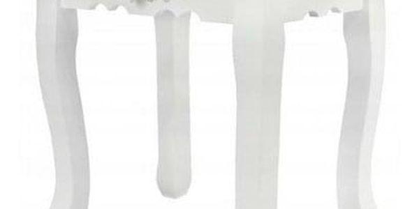 Toaletní stolek s taburetem Emilie, 143 x 74 x 40 cm4