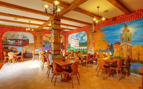 Bečov nad Teplou v Penzionu Hradní Bašta se snídaní a romantickou večeří + víno