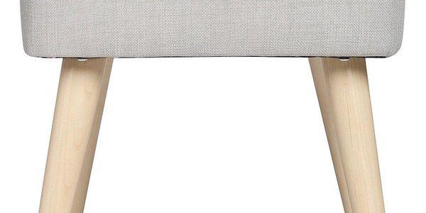 Atmosphera Créateur d'intérieur Čalouněný taburet nadřevěných nožkách, dřevěná stolička, skandinávský taburet, čalouněná stolička, taburet dopředsíně2
