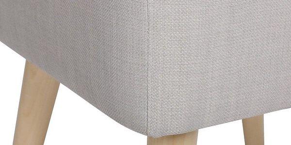 Atmosphera Créateur d'intérieur Čalouněný taburet nadřevěných nožkách, dřevěná stolička, skandinávský taburet, čalouněná stolička, taburet dopředsíně3