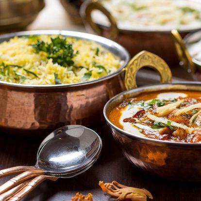 Indické menu pro 2: kuřecí i jehněčí na různý způsob