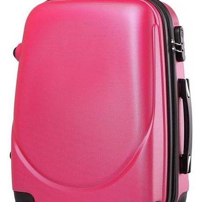 Cestovní kabinový růžový kufr Gyna 1602