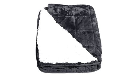 BO-MA Trading Beránková deka Erika černá, 150 x 200 cm